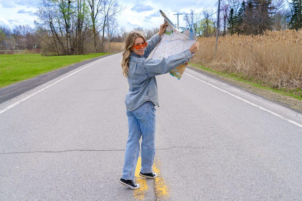 Photo carte routière Sur la route avec Cath Peach